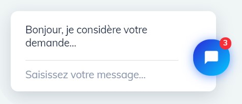 Bulle de messagerie avec notification